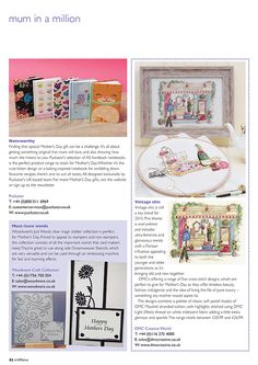 Craft Focus Magazine Issue 47 February / March 2015 featuring our design-led A5 Notebooks for Mother's Day