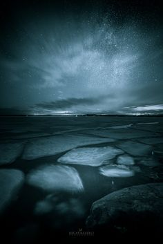 """Frozen - Night image taken in Inkoo,Finland.Feel free to follow me on my  <a href=""""http://on.fb.me/1QRPKqq"""">Facebook</a>"""