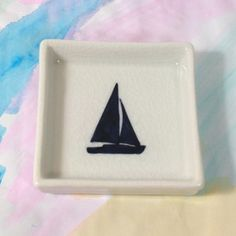 """Anytime I see sail boats and anchors I think of my Rhode Island roots! Don't like to go over board with cliche """"Oceany"""" products but this is classy and simple and again Navy is my favorite!"""