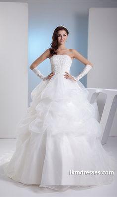http://www.ikmdresses.com/Fantastic-Court-Train-Satin-Corset-back-Wedding-Dress-p20280