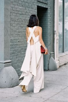 Leandra Medine from Man Repeller blog , before Rodarte, NYC, September 2013. Sometimes an outfit is more about the back than the fr...