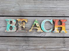 Beach Decor Vintage Style BEACH sign Nautical Wooden by SEASTYLE