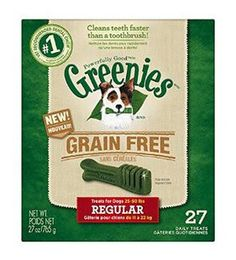 GREENIES GRAIN-FREE REGULAR DENTAL DOG TREATS - BD Luxe Dogs & Supplies