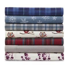 Cannon Flannel Sheet Set, Blue