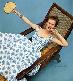 Mary Jane Russell in Frank Starr Dress, photo by Richard Rutledge, 1954