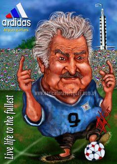 """Gustavo López Chaves (GUST): José """"Pepe"""" Mujica Presidente de la República Oriental del Uruguay. Lanzamiento de alpargatas """"Ardidas"""""""