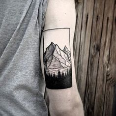 It would be good if you can have a picture of a mountain that you want to get inked on you. But your own version would still be the best.
