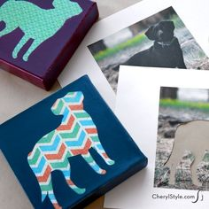 All you need is scrapbook paper, a silhouette of your pet and spray paint to make these easy DIY pet art prints! Why pay the big bucks?