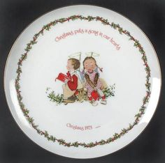 Holly Hobbie christmas plate 1972 Have This One!