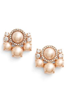 kate spade new york 'pearls of wisdom' stud earrings available at #Nordstrom