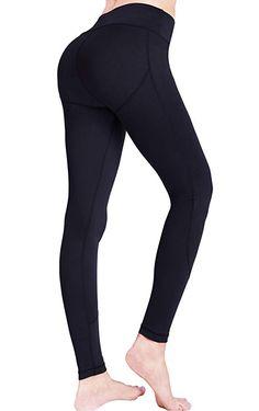 5f73942bcad55 Amazon.com: UURUN Women's Workout Leggings with Pockets High Waist Yoga  Pants Tummy Control Non See Through Running Leggings: Clothing
