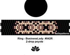 peyote ring pattern,PDF-Download, #042R-2d, 2 drop peyote, beading pattern, beading tutorials, ring pattern