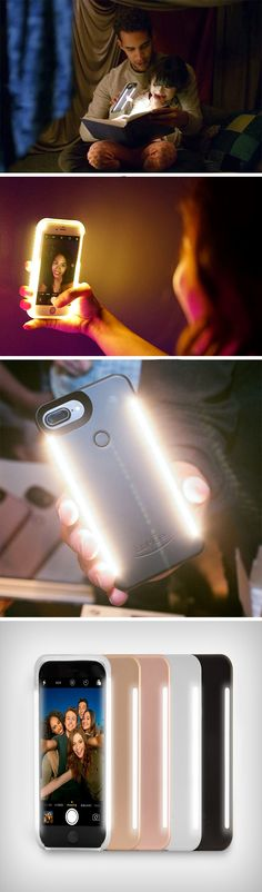 The LuMee Duo case features a button on the back that allows you to activate the front and/or back facing lights. Holding the button even allows you to control the light's brightness, so you have the perfect intensity for your photos and videos. BUY NOW!