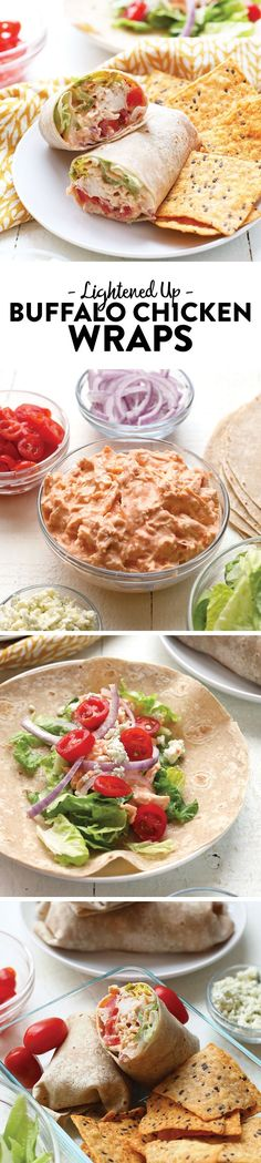 If you are looking for a healthy on-the-go lunch to bring to work that is full of protein and veggies, this Skinny Buffalo Chicken Wrap is for you! (Buffalo Chicken Wraps)