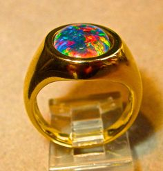 Unisex Solid Gold or Silver Opal Ring. Gold or Silver. Black Opal Ring, Silver Opal Ring, Opal Rings, Ethiopian Opal Ring, Mens Ring Sizes, Fashion Rings, Solid Gold, Natural Opal, Gemstone Jewelry