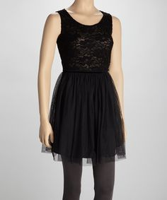 Take a look at this Black Lace Dress by BeBop on #zulily today!