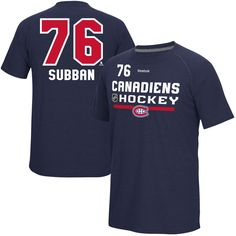 Men's Montreal Canadiens PK Subban Reebok Navy CI Freeze Supremium Name & Number T-Shirt