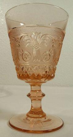 Duncan & Miller Pink Sandwich Goblet Glass(es) Excellent Condition  #DuncanandMiller