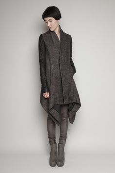 Totokaelo - Rick Owens Sample Woven Orlique Coat