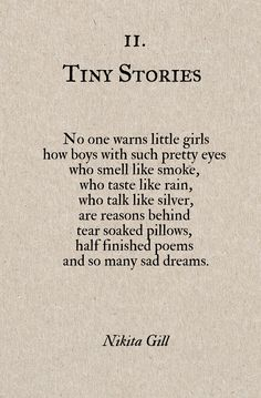 Tiny Stories 2 ~ Nikita Gill