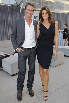 Rande Gerber and Cindy Crawford at the Helmut Newton Exhibition at Annenberg Space for Photography [Photo by Donato Sardella]