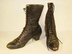 Antique shoes  Victorian High Lace womens boots  by InUseAgain, $49.95