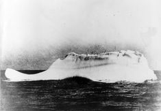 This is believed to be the iceberg that sank the Titanic on April 14-15, 1912. The photograph was taken from the deck of the Western Union Cable Ship, Mackay Bennett, commanded by Captain DeCarteret. The Mackay Bennett was one of the first ships to reach the scene of the Titanic disaster. According to Captain DeCarteret, this was the only berg at the scene of the sinking when he arrived. It was assumed, therefore, that it was responsible for the sea tragedy.(United States Coast Guard)