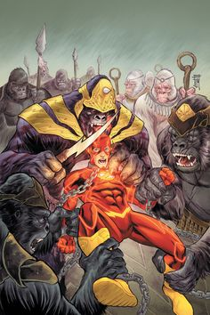 The Flash by Francis Manapul  Reminds me of my first comic I bought for myself as a kid... it was a Flash comic which featured Gorilla Grodd as the villain.