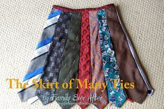 Tie skirt is interesting. I have started to make one for Mamie but her dagum legs are to long!!!