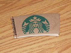 365: Make a Book a Day: Book 326 - A Little Jotter/Notebook for Sitting in Starbucks - Recycled Cup Holder - Stab Binding