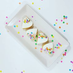 Sugar Cookies: Heart shaped with Sucre Sprinkles. Sugar Cookies, Heart Shapes, Sprinkles, Cupcakes, Treats, Sweet Like Candy, Cupcake, Goodies, Sugar Cookie Cakes