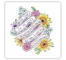 With Tears-The Front Bottoms Sticker