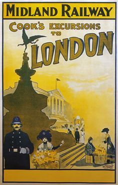 TX222 Vintage Midland Railway London Travel Tourism Poster RePrint A2/A3