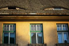 The Romania eyes: eyelid windows in the rooftops of Sibiu and other Romanian cities give the impression that someone always has their eye on you. Romania, Rooftop, Eyes, Building, Outdoor Decor, Travel, Viajes, Buildings, Rooftops