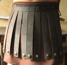 Medieval Roman Legion Leather Belt Armor by MorganasCollection, $67.99