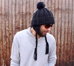 Knitting for men has just gotten easier with the Fast & Furious Earflap Hat. Knit using super bulky weight yarn and size 13 needles, this is one knit hat pattern that will be off your needles as quickly as you cast on. The Fast & Furious Earflap Hat is not only quick to complete, it's also super easy. This hat knitting pattern is perfect for any knitter looking to learn how to knit a hat without the stress of knitting in the round.