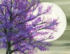 Hey! Check out Purple Tree in Moonlight at The Clocktower Pub - Richmond - Paint Nite