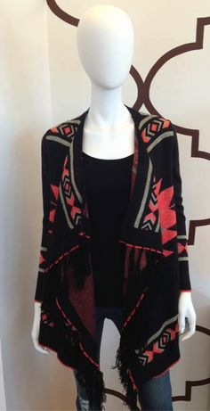 TRIBE CARDI BLACK/CORAL $78- CALL SPLASH TO ORDER 314-721-6442
