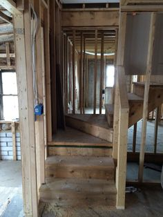 July - new stairwell to second floor studded out. Orlando Vacation, Second Floor, Flooring, House, Hardwood Floor, Haus, Homes, Paving Stones, Floor