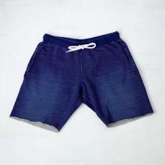 Sanca サンカ Indigo cut off shorts インディゴ・カットオフ・スウェット・ショーツ