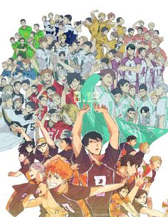 The teams of Haikyuu