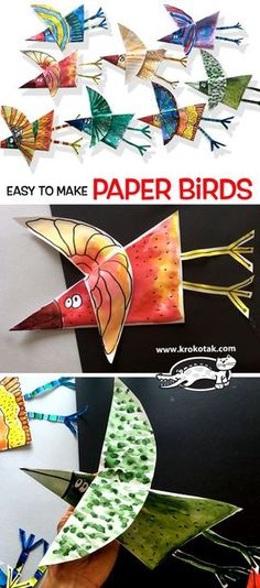 Easy+to+make+paper+birds