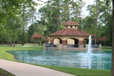 One of the parks in Carlton Woods, The Woodlands, TX