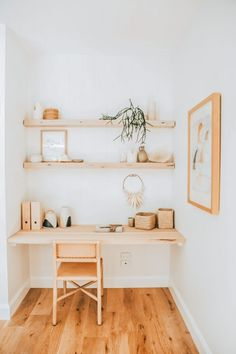 Tiny Home Office, Small Home Offices, Desks For Small Spaces, Home Office Space, Home Office Design, Home Office Decor, Diy Home Decor, Office Style, Office Ideas