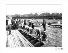 The Coney Island Boardwalk under construction in 1922
