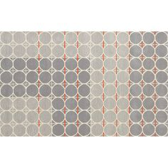 grey dot with orange rug 5'x8' in rugs | CB2