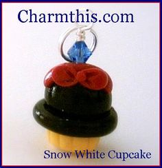 Polymer Clay Snow White Inspired  Cupcake by CharmthisClayCharms, $3.00