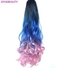JOY BEAUTY Hair Synthetic Wavy 3Color Ombre Color Ponytail Extension Fake Pony Tail 22 Claw Clip. Click visit to buy #SyntheticExtensions