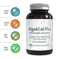 Natural Calcium and Magnesium Supplement  AlgaeCal Plus 90 Capsules  AllNatural USDA Certified Organic Algae  3 Vitamins and 73 Trace Minerals Aid in Restoring Strong and Healthy Bones -- Check out this great product.
