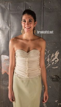 bustier, silk chiffon, designed in Denver, Colorado by Brooks Luby, Brooks Ltd